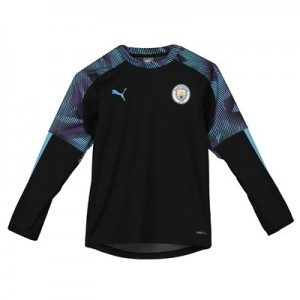 Manchester City Training Rain Top - Black - Kids