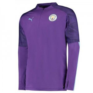 Manchester City 1/4 Zip Training Top - Purple