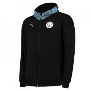 Manchester City Casuals Full Zip Hoody - Black