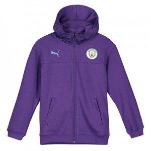 Manchester City Casuals Full Zip Hoody - Purple - Kids