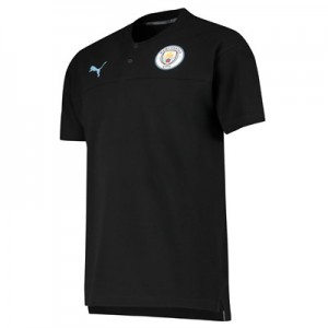 Manchester City Casuals Polo - Black