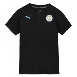 Manchester City Casuals Polo - Black - Kids