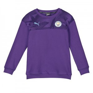Manchester City Casuals Sweatshirt - Purple - Kids