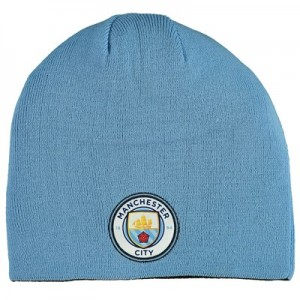 Manchester City Reversible Beanie - Blue & Black