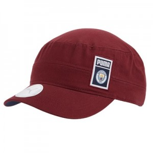 Manchester City Military Cap - Burgundy