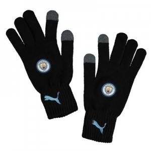 Manchester City Knitted Gloves - Black