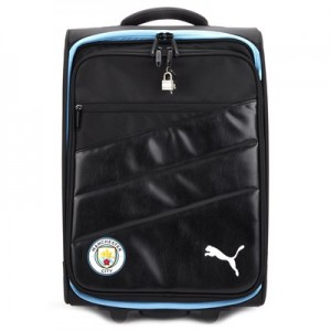 Manchester City Team Trolley Bag - Black