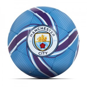 Manchester City Future Flare Mini Ball - Light Blue