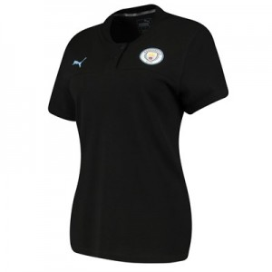 Manchester City Casuals Polo - Black - Womens
