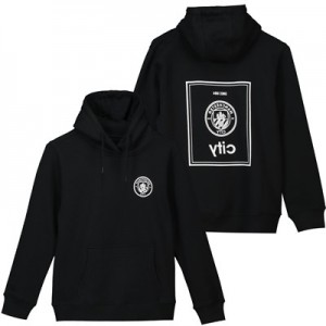 Manchester City Black To Front Hoodie - Black - Kids