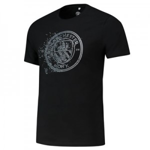 Manchester City Shatter T Shirt - Black - Mens