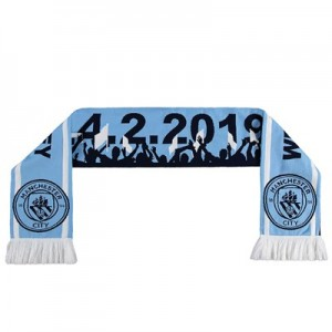 Manchester City Road To Wembley Scarf - Sky - Adult