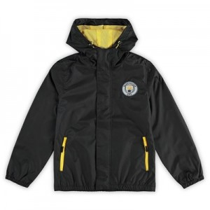 Manchester City Shower Jacket - Black - Kids
