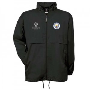 Manchester City UEFA Champions League Windbreaker Jacket - Black - Mens