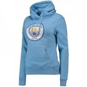 Manchester City Large Crest Hoodie - Sky - Womens