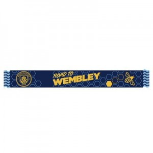 Manchester City Road To Wembley Bee Scarf - Navy - Adult