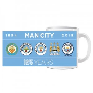 Manchester City 125 Years Crests Mug