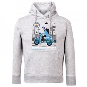 Manchester City Back 2 Back Champions On Tour Hoodie - Grey Marl - Kids