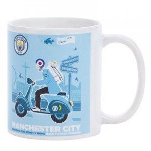 Manchester City Back 2 Back Champions On Tour Mug