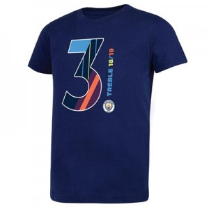 Manchester City Magic Number T Shirt - Navy - Kids