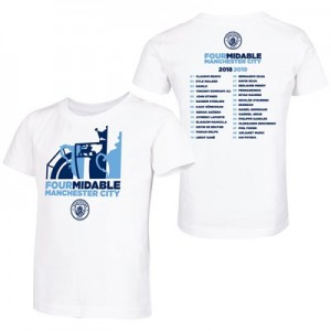 Manchester City Fourmidable T Shirt - White - Kids