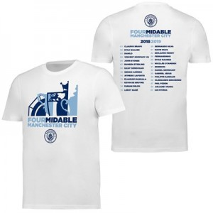 Manchester City Fourmidable T Shirt - White - Mens