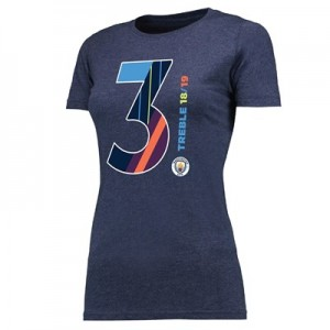 Manchester City Magic Number T Shirt - Navy - Womens