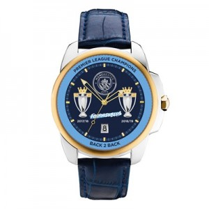 Manchester City Fourmidables Winners Watch - Leather Strap