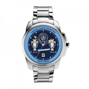 Manchester City Fourmidables Winners Watch - Stainless Steel Strap