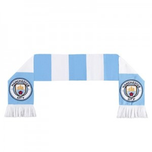 Manchester City Bar Scarf - Sky / White - Junior