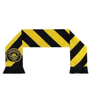 Manchester City Hacienda Scarf - Black/Yellow - Adult