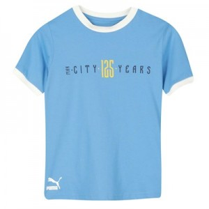 Manchester City 125 Year Anniversary Fan T-Shirt - Sky Blue - Kids