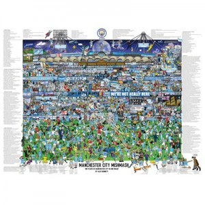 Manchester City Mish Mash Poster - 69Hx99Wcm (approx)