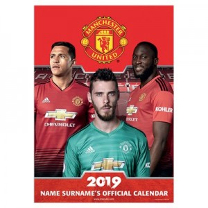 Manchester United 2019 Personalised Calendar