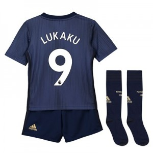 Manchester United Third Mini Kit 2018-19 with Lukaku 9 printing