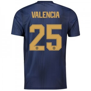 Manchester United Third Cup Shirt 2018-19 with Valencia 25 printing