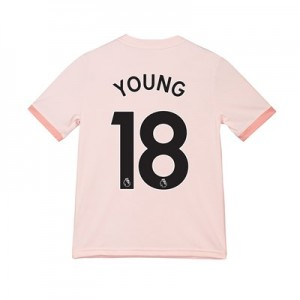 Manchester United Away Shirt 2018-19 - Kids with Young 18 printing