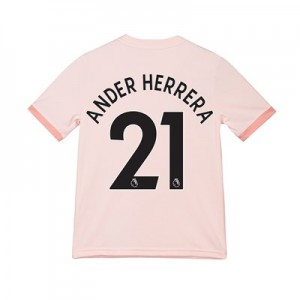 Manchester United Away Shirt 2018-19 - Kids with Ander Herrera 21 printing