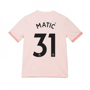 Manchester United Away Shirt 2018-19 - Kids with Matic 31 printing