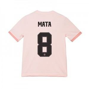 Manchester United Away Cup Shirt 2018-19 - Kids with Mata 8 printing