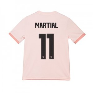 Manchester United Away Cup Shirt 2018-19 - Kids with Martial 11 printing