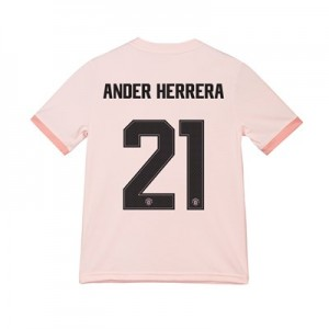 Manchester United Away Cup Shirt 2018-19 - Kids with Ander Herrera 21 printing