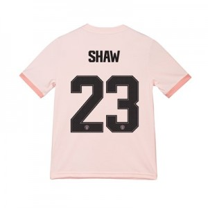 Manchester United Away Cup Shirt 2018-19 - Kids with Shaw 23 printing