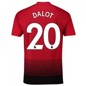 Manchester United Home Shirt 2018-19 with Dalot 20 printing