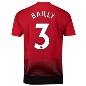 Manchester United Home Shirt 2018-19 with Bailly 3 printing