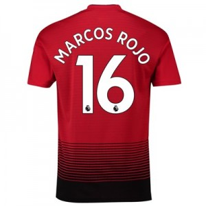 Manchester United Home Shirt 2018-19 with Marcos Rojo 16 printing
