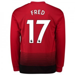 Manchester United Home Shirt 2018-19 - Long Sleeve with Fred 17 printing