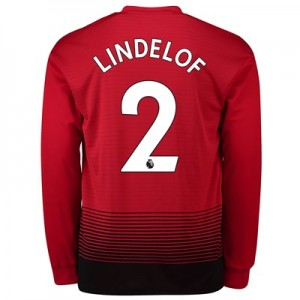 Manchester United Home Shirt 2018-19 - Long Sleeve with Lindelof 2 printing