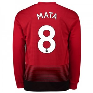 Manchester United Home Shirt 2018-19 - Long Sleeve with Mata 8 printing