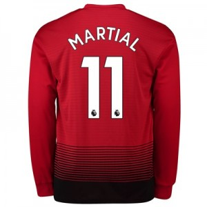 Manchester United Home Shirt 2018-19 - Long Sleeve with Martial 11 printing